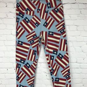 SOFT Limited Americana Patriotic Petite leggings